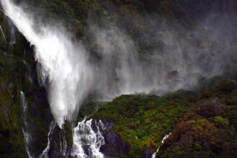 Raining in Milford Sound