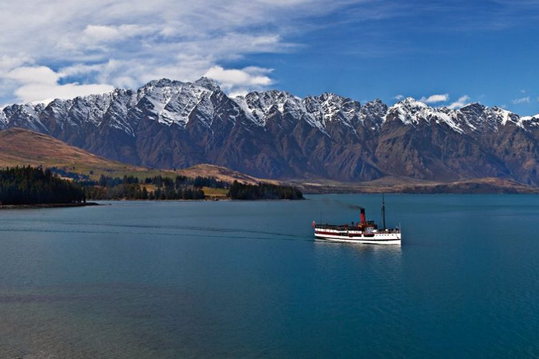 TSS Earnslaw and the Remarkables