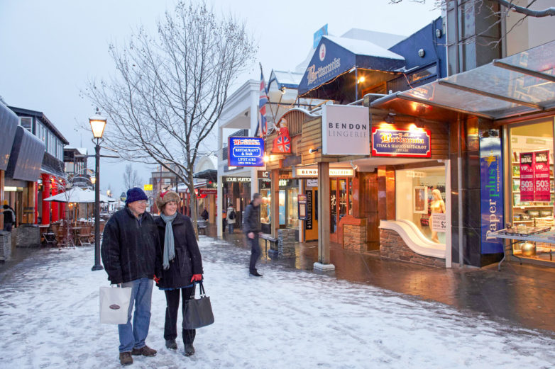 Queenstown during winter
