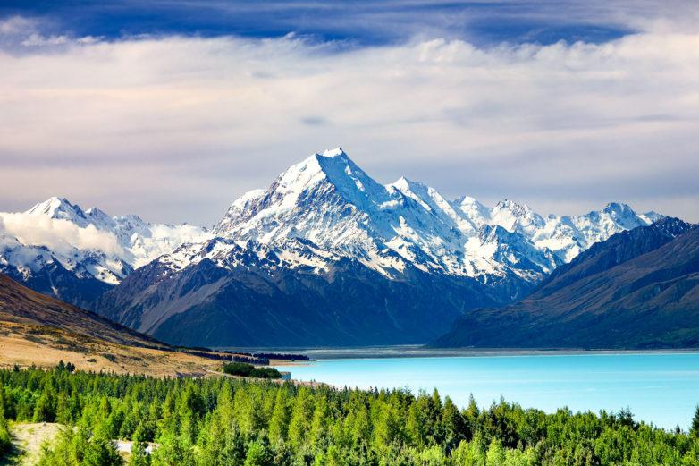 Lake Pukaki and Mt Cook
