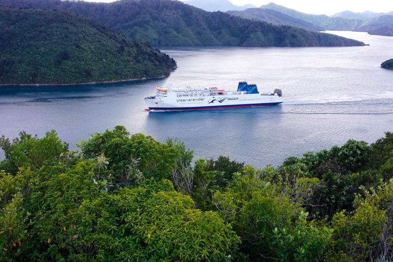Interislander ferry, Marlborough Sounds