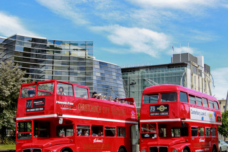 Christchurch open top buses