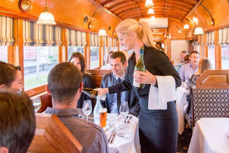 Dining on Christchurch Tramway Restaurant