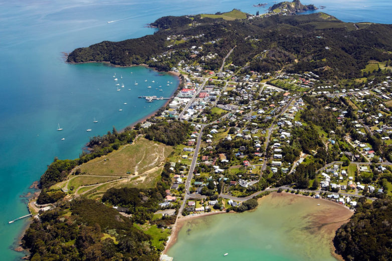 Russell, Bay of Islands from above
