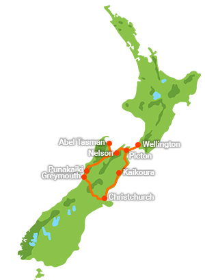 5 Day Water, Rocks and TranzAlpine Loop
