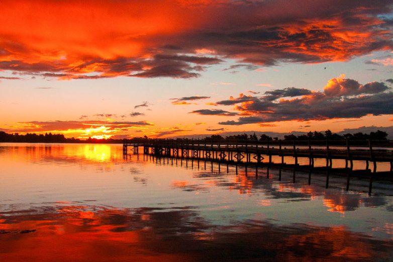 Canterbury sunset