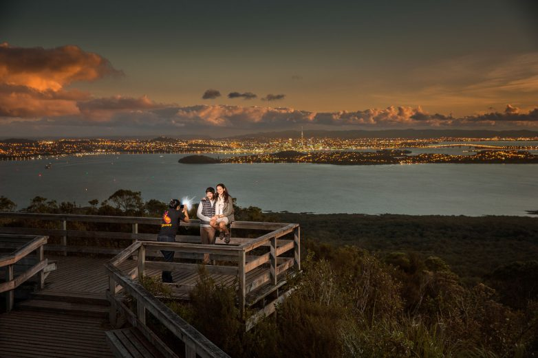 Rangitoto Summit after sunset. Credit: Todd Eyre