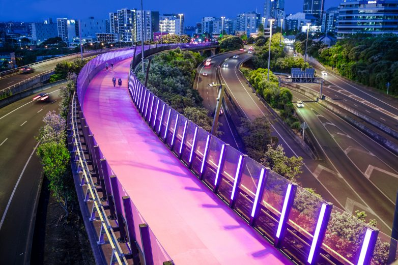 Te Ara i Whiti, the pink lightpath